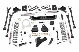 Rough Country - Rough Country 56020 6-inch 4-Link Suspension Lift Kit (Overload Spring Models)