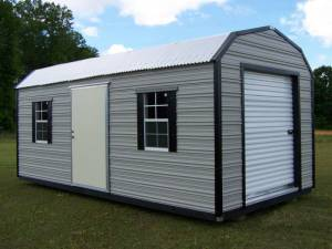 H&H Portable Buildings - Thrifty Aluminum Buildings BTHB10x16 Barn Style Metal Portable Building