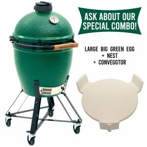 Big Green Egg - Big Green Egg Combo - Large BGE with Nest and convEGGtor