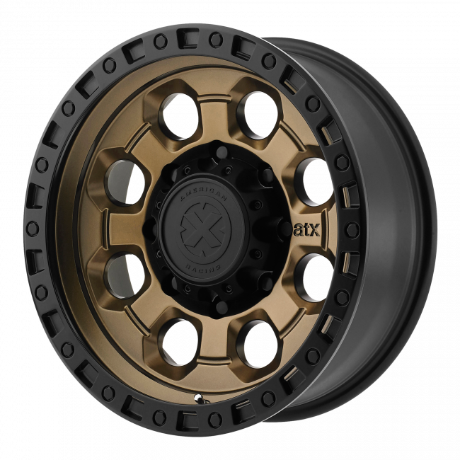 ATX Series - ATX SERIES AX201 16x8 Wheel - Matte Bronze With Black Lip