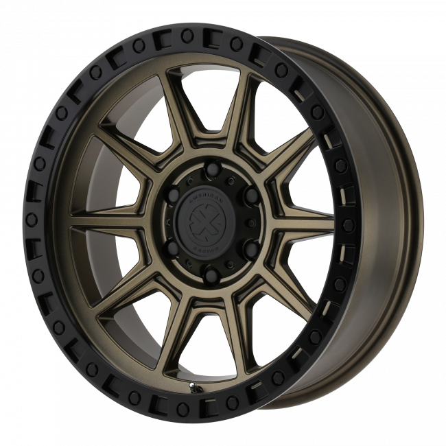 ATX Series - ATX SERIES AX202 17x9 Wheel - Matte Bronze With Black Lip