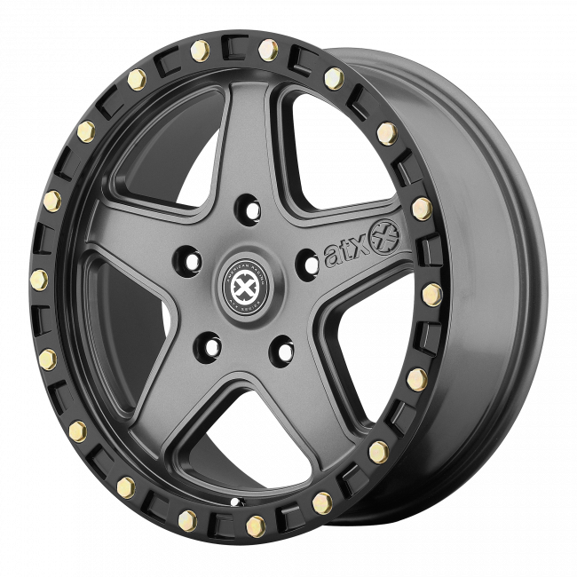 ATX Series - ATX SERIES AX194 RAVINE 18x8.5 Wheel - Matte Gray W Black Reinforcing Ring