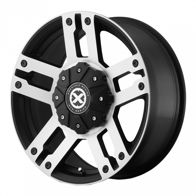 ATX Series - ATX SERIES AX190 DUNE 17x8.5 Wheel - Satin Black With Machined Face