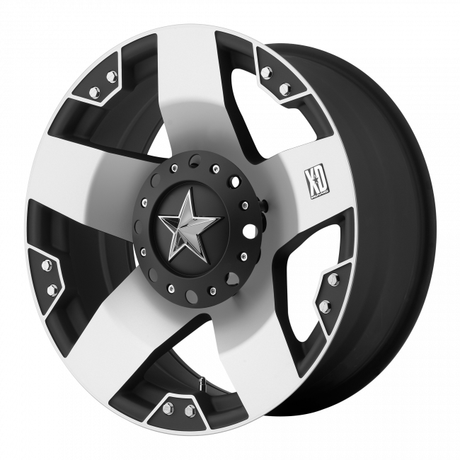 Rockstar Wheels - XD SERIES XD775 ROCKSTAR 18x9 Wheel - Machined Face With Matte Black Windows