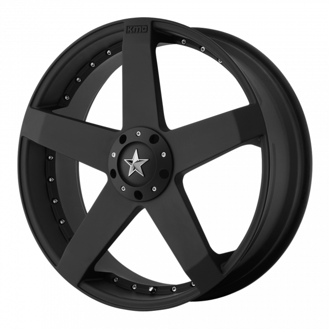 Rockstar Wheels - KMC KM775 ROCKSTAR CAR 20x10 Wheel - Matte Black