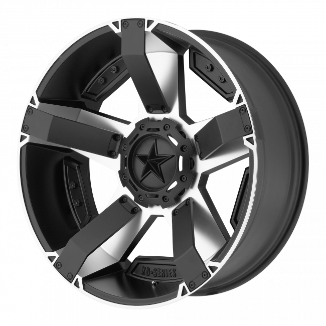 Rockstar Wheels - XD SERIES XD811 ROCKSTAR II 22x9.5 Wheel - Matte Black Machined With Accents