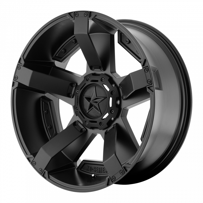 Rockstar Wheels - XD SERIES XD811 ROCKSTAR II 24x12 Wheel - Matte Black With Accents