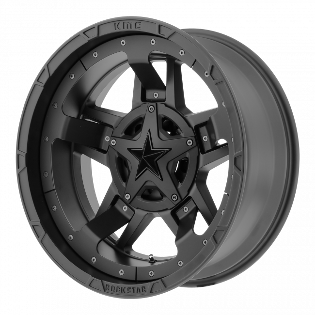 Rockstar Wheels - XD SERIES XD827 ROCKSTAR III 22x12 Wheel - Matte Black With Black Accents