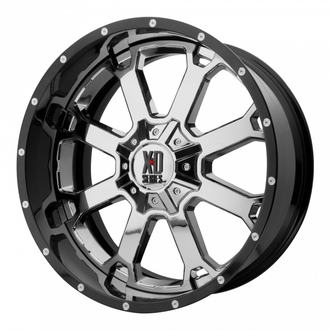 XD Series - XD SERIES XD202 BUCK 25 22x12 Wheel - Chrome Center w/ Gloss Black Milled Lip