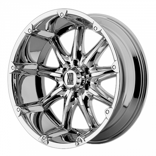 XD Series - XD SERIES XD779 BADLANDS 22x9.5 Wheel - Chrome Plated