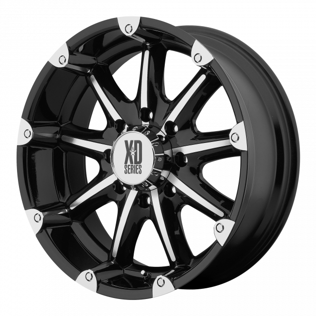 XD Series - XD SERIES XD779 BADLANDS 18x9 Wheel - Gloss Black Machined