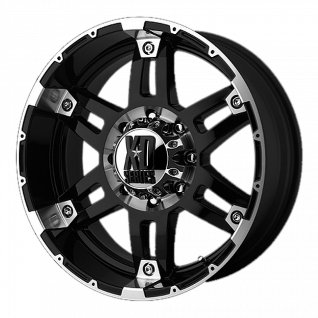 XD Series - XD SERIES XD797 SPY 17x9 Wheel - Gloss Black Machined
