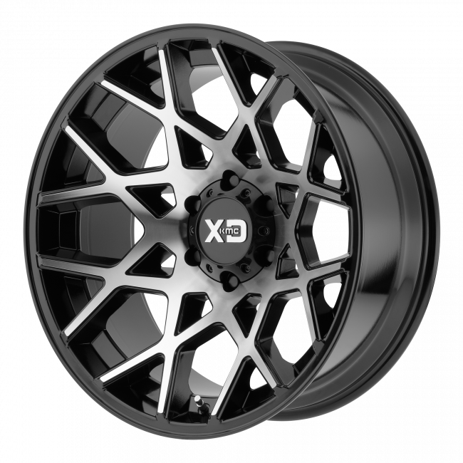 XD Series - XD SERIES XD831 CHOPSTIX 22x12 Wheel - Gloss Black Machined