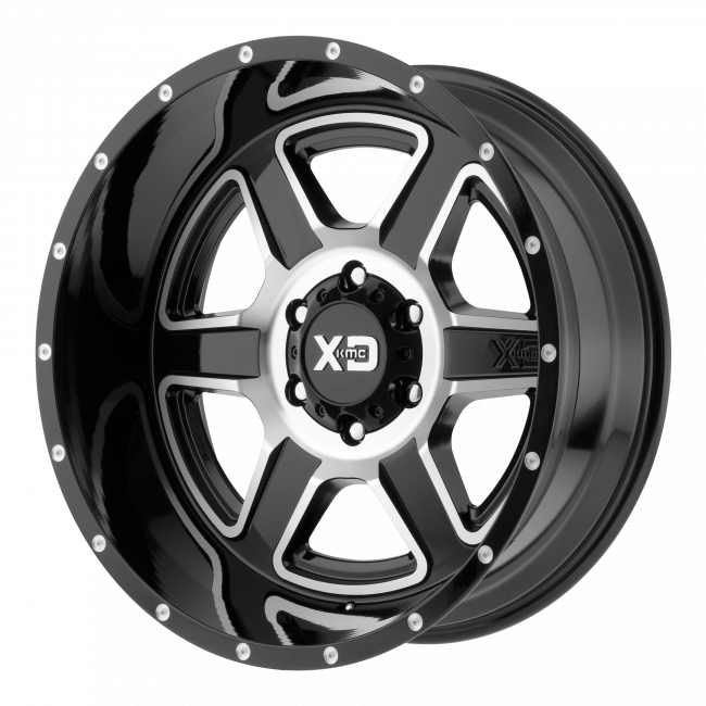XD Series - XD SERIES XD832 FUSION 20x12 Wheel - Gloss Black Machined