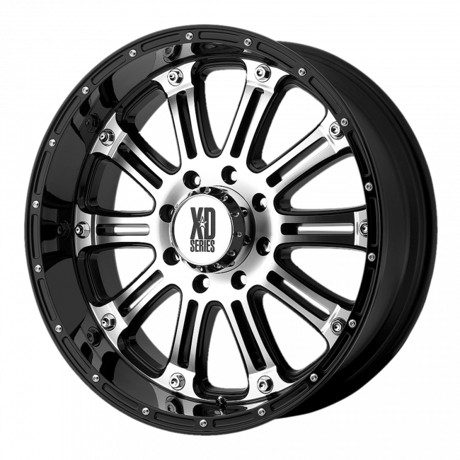 XD Series - XD SERIES XD795 HOSS 16x8 Wheel - Gloss Black Machined Face