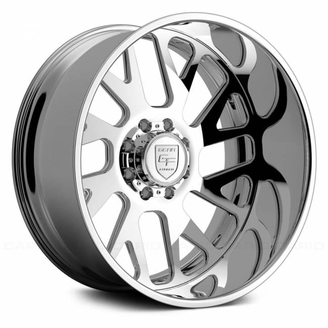 Gear Alloy - Gear Alloy F71P2-2228444-1R F71P2 FORGED 2-PC DIRECTIONAL 22X12 Polished/Machined