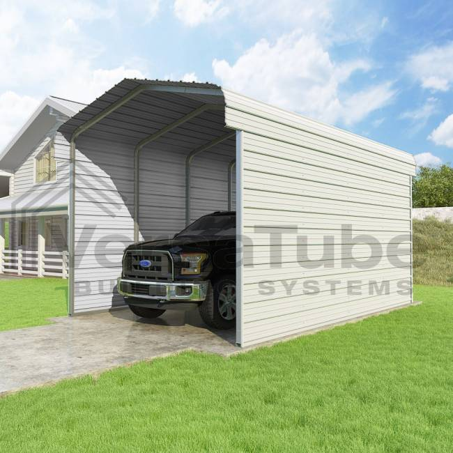 Hh carports 12x20x10 2 sided round roof carport