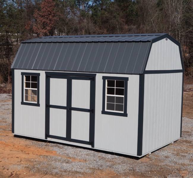 H&H Portable Buildings - H&H Portable Buildings 10x12 Side Lofted Barn