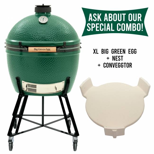 Big Green Egg - Big Green Egg Combo - XL BGE with Nest and convEGGtor