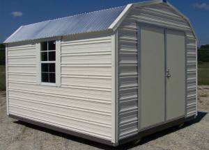 H&H Portable Buildings - Thrifty Aluminum Buildings BTHB12x24 Barn Style Metal Portable Building - Image 6