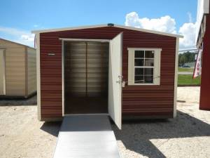 H&H Portable Buildings - Thrifty Aluminum Buildings BTHS10x12 Standard Style Metal Portable Building - Image 2