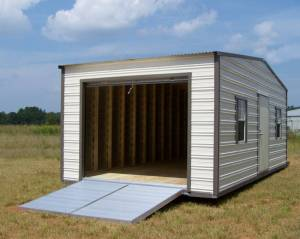 H&H Portable Buildings - Thrifty Aluminum Buildings BTHS10x12 Standard Style Metal Portable Building - Image 7
