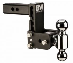 "B&W - B&W TS10037B B&W Tow And Stow Dual Ball 2"" Adj Ball Mount 5"" Drop/5-1/2"" Rise, Black - Image 1"
