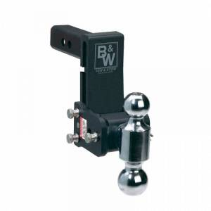 "B&W - B&W TS10037B B&W Tow And Stow Dual Ball 2"" Adj Ball Mount 5"" Drop/5-1/2"" Rise, Black - Image 2"